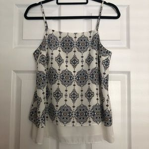 White & Blue Patterned Camisole